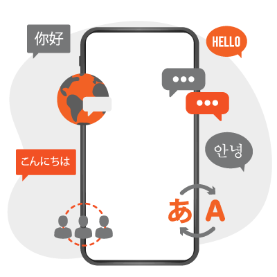 Multilingual-interface-navigation